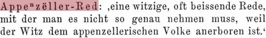 Schweizerdeutsches Wörterbuch Idiotikon. «Soo schwätzid s deheem»