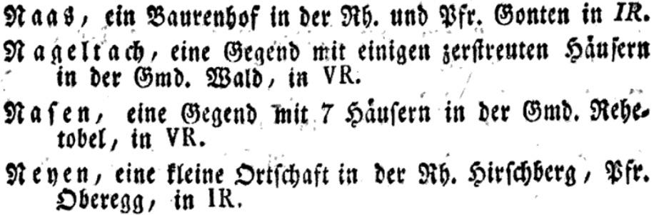 Orts-Lexikon des Kantons Appenzell, beyder Rhoden (1819). «Fast der ganze Kanton besteht aus zahllosen Hügeln und Bergen.»