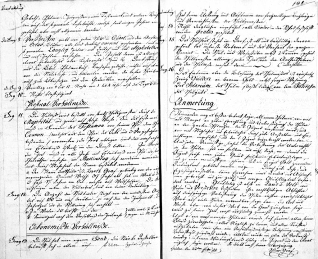 Die Stapfer-Enquête. Eine einzigartige Umfrage zur Schulsituation in der Helvetischen Republik aus dem Jahr 1799